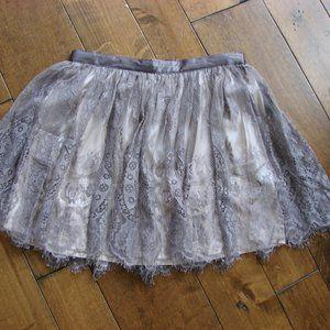 H&M Divided Lace Satin Mini Skirt